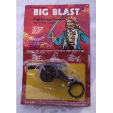 Big Blast Cap Firing Pirate Cannon Key Chain