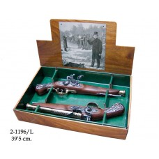 18th Century Duelling British Flintlock Set 1196/L by Denix