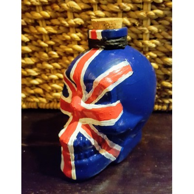 6oz  Union Jack Royal Navy Liquor Glass Skull Flask