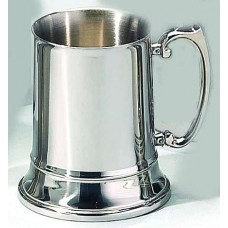 Elegance Classic English 16oz Polished Stainless Steel Beer Tankard