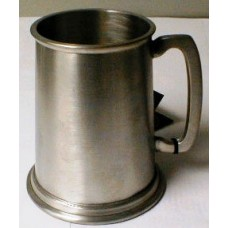 English Sheffield Pewter 19oz Brushed Finished Tankard