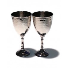 Hammered metal Goblets