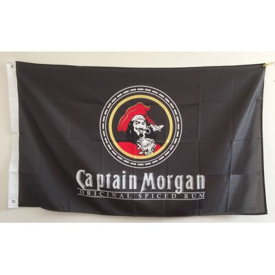 3' x 5'  Pirate Flag Captain Morgan Rum Flag