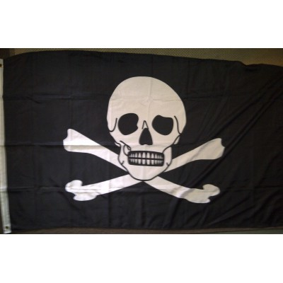 3' x 5' Pirate Flag Jolly Roger Skull and Crossbones Flag