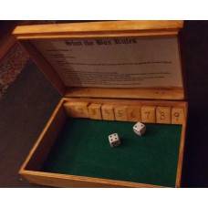 Handcrafted Wooden Shut the Box Traditional Game Tallship Scrimshaw