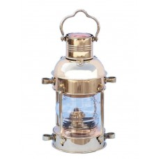 "12"" Solid Brass Anchor Oil Lantern"