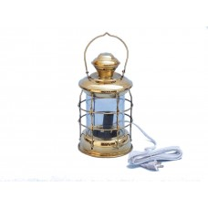 "12"" Solid Brass Admiral Nelson  Electric Lamp"
