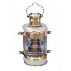 "12"" Solid Polished Brass Masthead Oil Lamp"