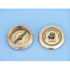 "3"" Solid Brass Royal Navy Pocket Compass"