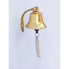 4in Polished Brass Hanging Harbor Bell