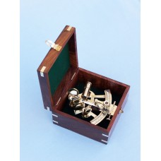 "4"" Brass Sextant with Rosewood Box"
