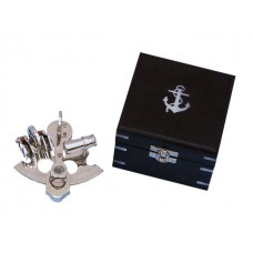 "4"" Chrome Pirate Sextant With Black Rosewood Box"