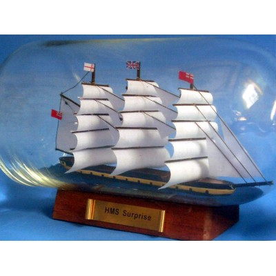"11"" Master & Commander HMS Surprise Ship In A Bottle"