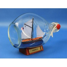 "7""  America Schooner Ship In A Bottle"