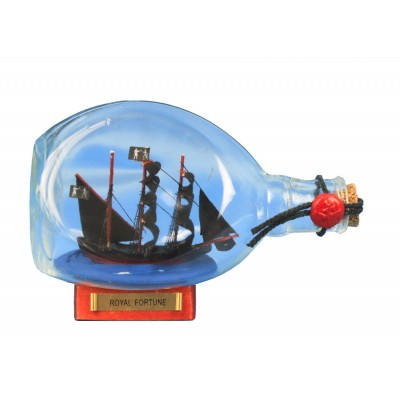"7"" Black Barts Royal Fortune Ship In A Bottle"