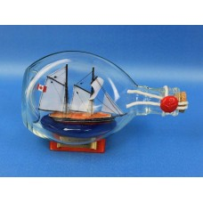 "7"" Bluenose Schooner Ship In A Bottle"