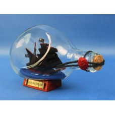 "7"" Blackbeard's Queen Anne's Revenge Ship In A Bottle"