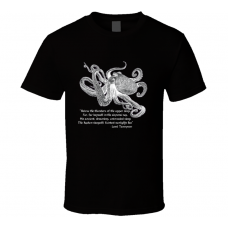 "Nautical ""Kraken"" Steampunk Octopus Tennyson Pirate Unisex Graphic Tee Shirt"