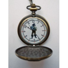 Antique Bronze Quartz Movement Pirate Pocket Watch By Infinity