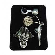 "32"" Pirate Pistol Hook Charm Necklace With Hidden Blade"