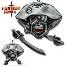 Pirate Skull Mini-Sword Necklace With Chain
