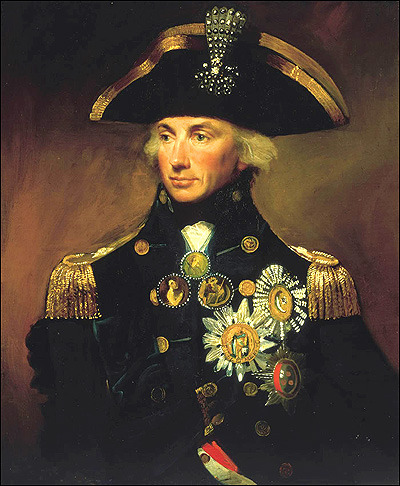 British Navy Admiral Lord Horation Nelson