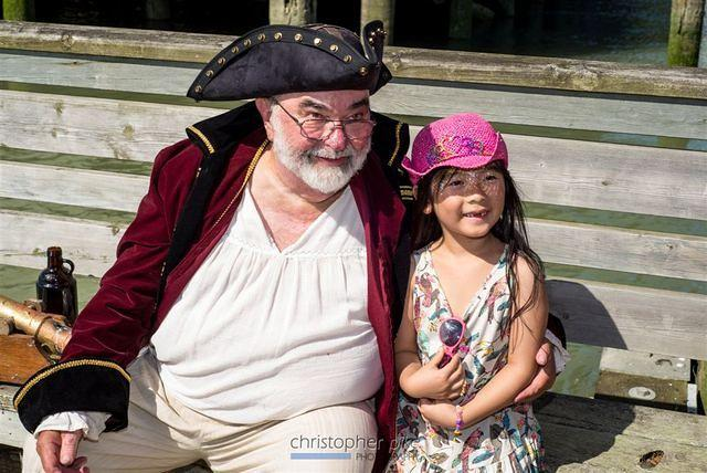 Shady Isle Pirate Greybeard with a young scaliwag