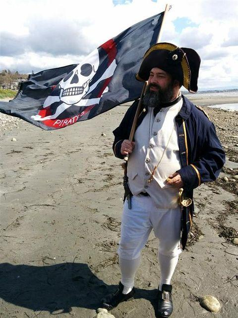 Conner O'dae lands in White Rock with the Shady Isle Pirates