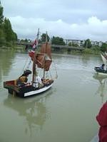 The Liberte chases down the Adventure on the Fraser