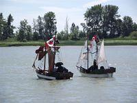 Mini-Brigs Sail Past Steveston Island (Shady Island)