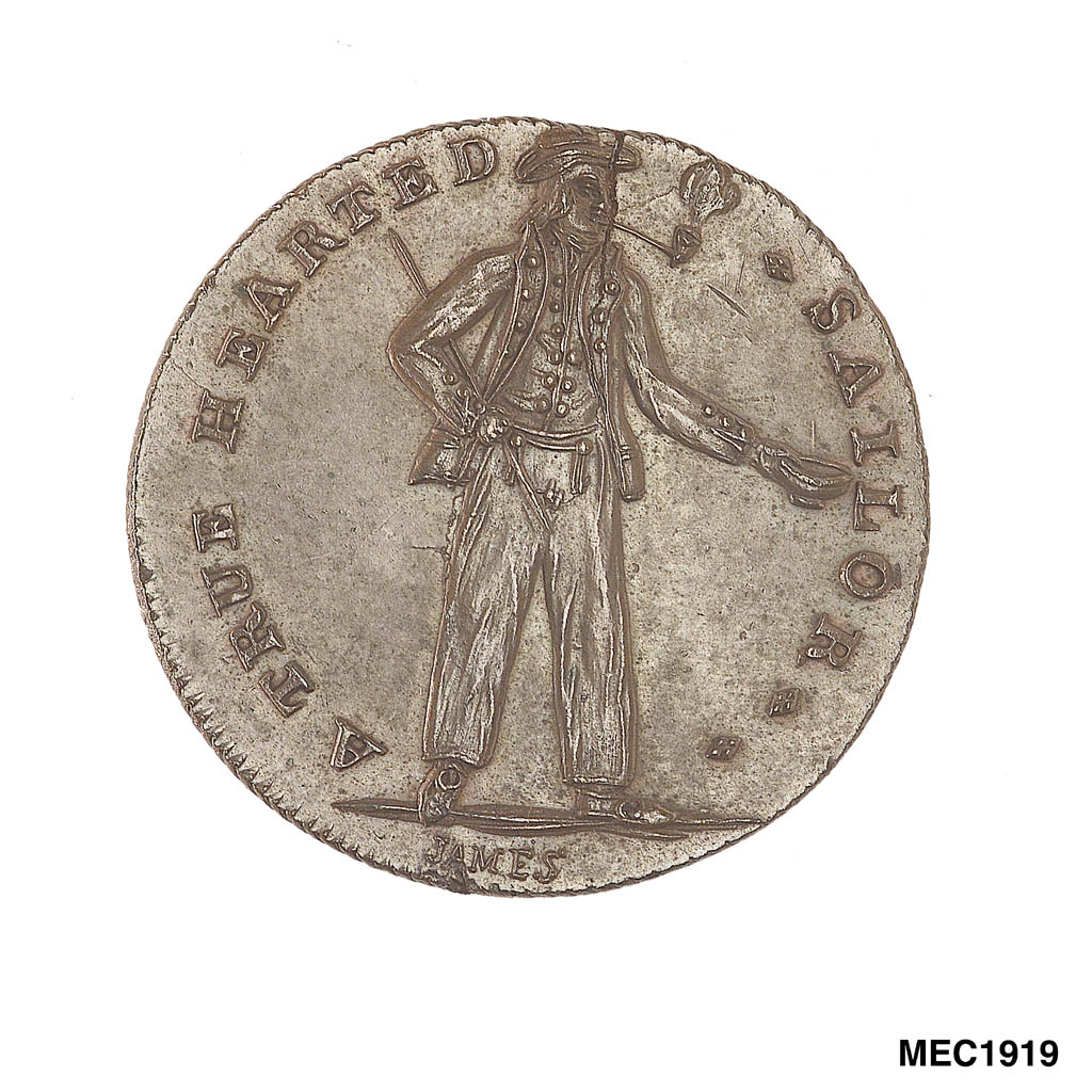 Sailor on coin
