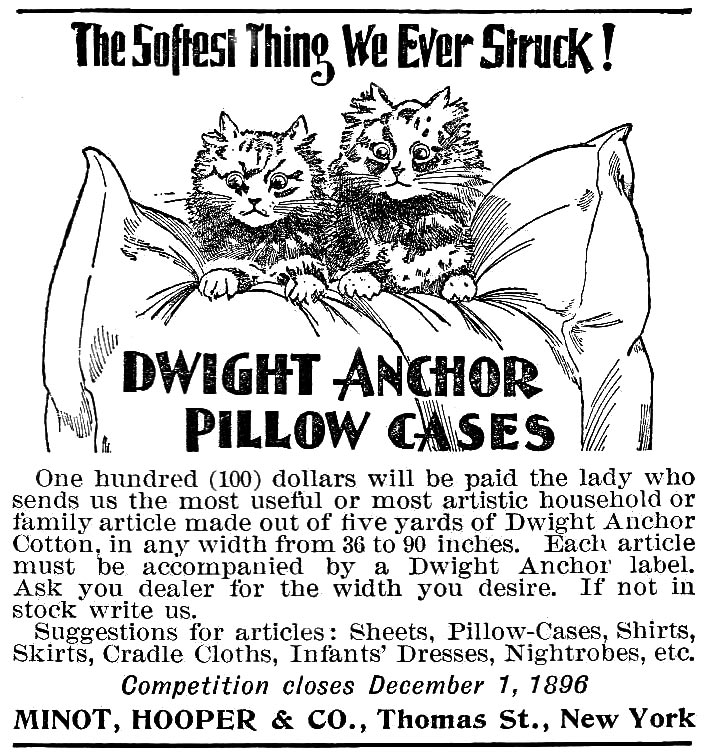Minot, Hooper & Co Ad for Dwight Anchor 1896