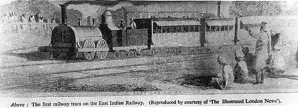 First Train of East Indian Railway Company