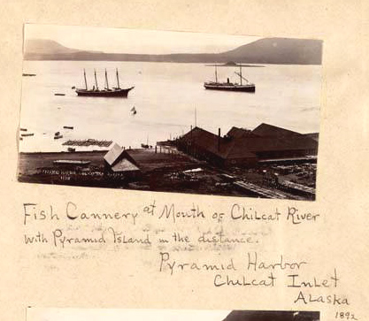 Fish Cannery At Pyramid Harbor Alaska - 1892