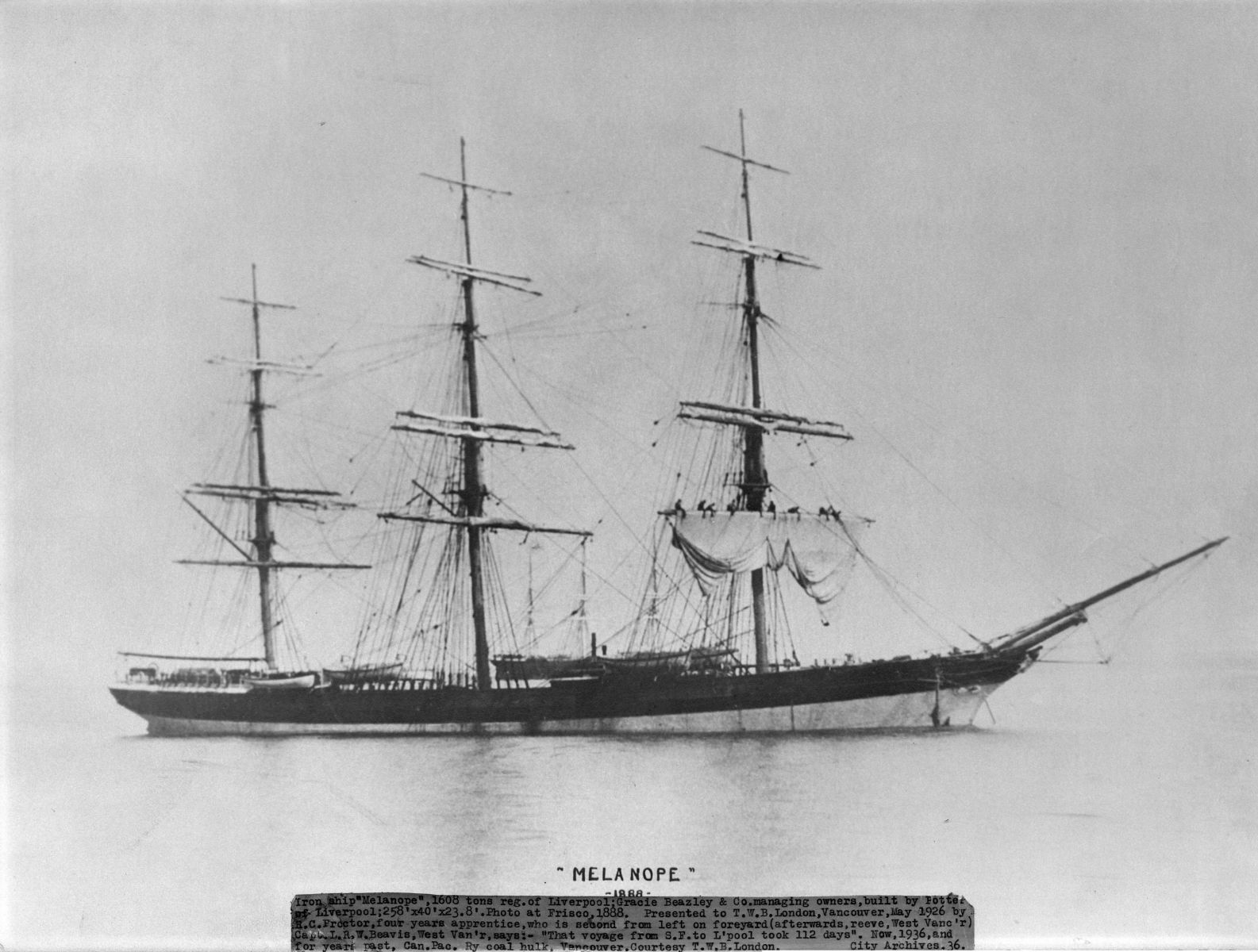 Melanope in 1888