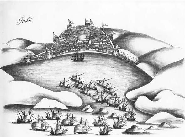 Portuguese attack on Jiddah 1517 by Anonymous