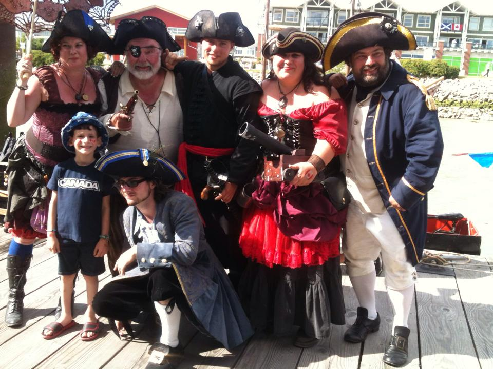 Shady Isle Pirates Entertain at Dock