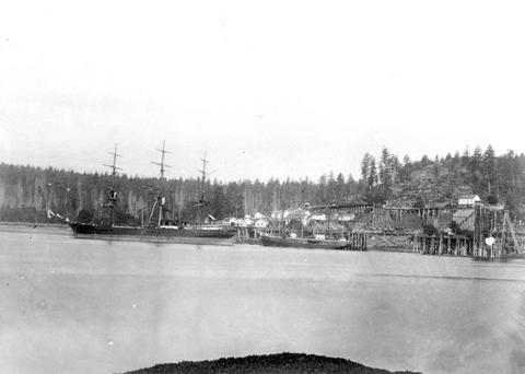 Clipper at Deparute bay circa 1886-7