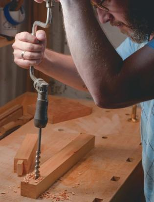 hand brace and bit mortise