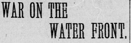 War On The Water - Headline 1895
