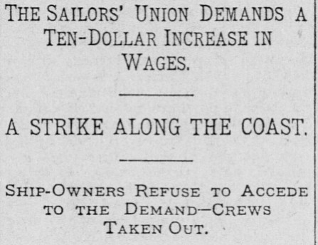 Sailors' Union Demands Increase