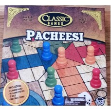 Pacheesi by Classic Games Pacheesi / Parcheesi/ Pachisi/ Ludo / Uckers Classic Tradtional Board Game
